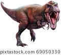Tyrannosaurus from the Cretaceous era 3D illustration 69050330