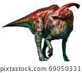 Parasaurolophus walkeri standing 3D illustration 69050331