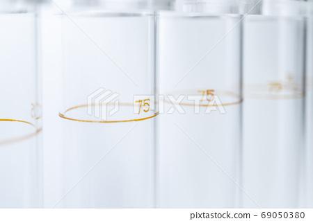 Up of arranged test tubes 69050380