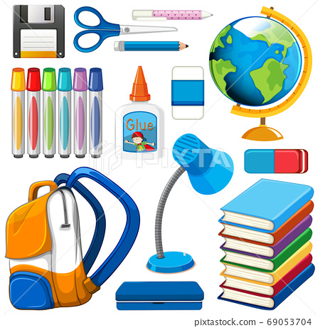 Set of stationary tools and school 69053704