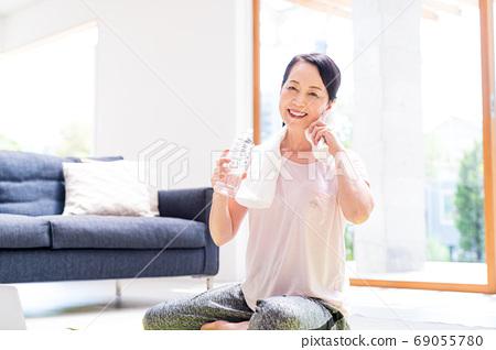 高級女子,體操,運動,室內 69055780