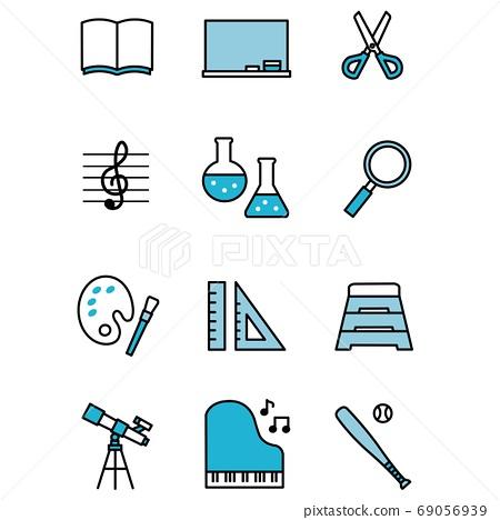 Education, studying icons 69056939