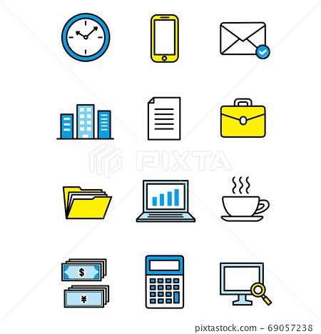 Work, business icons 69057238