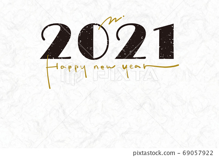 New Year card 2021 simple chic 69057922