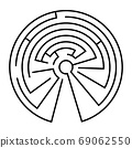 Maze in the shape of a circle 69062550