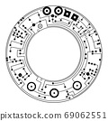 Schematic diagram - plan of electronic circuit 69062551