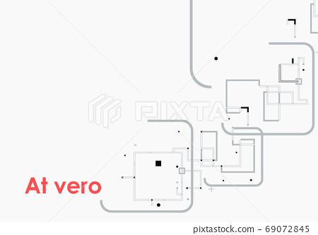 Vector Information technology. Digital graphic. Modern communication technology on brochure template 69072845