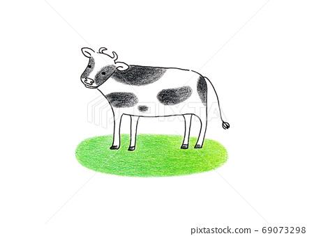 草坪上的氧氣牛 69073298