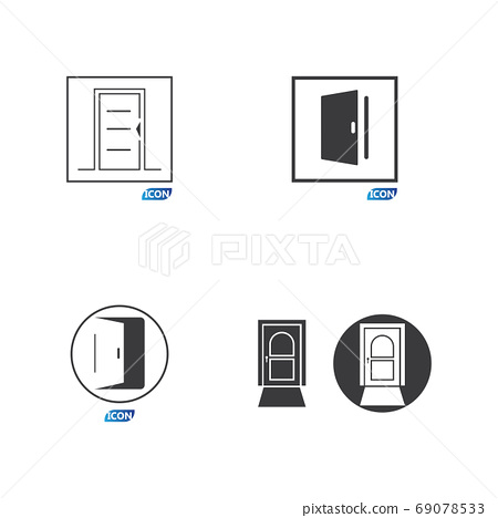 Door icon vector illustration 69078533
