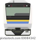 Dot picture style E233 series (Chiba/Boso local line) 69084342