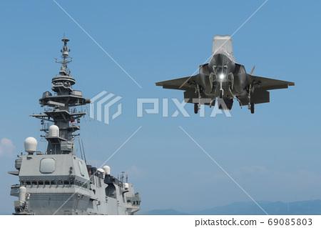 호위함 이즈모 & F-35B 스텔스 전투기 이미지 69085803