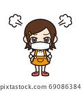 女孩生氣面具 69086384