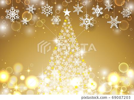 눈송이가 매달려 크리스마스 용 배경 69087203