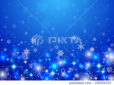 雪花聖誕節背景 69089334