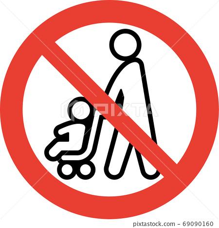 禁止童車象形文字(粗線版) 69090160