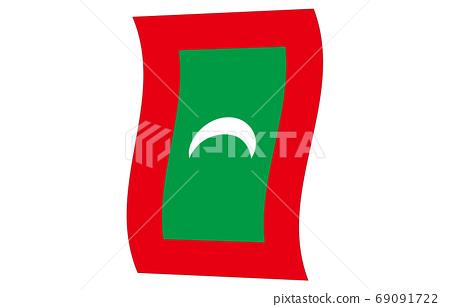 新世界國旗2:3Ver垂直波馬爾代夫 69091722
