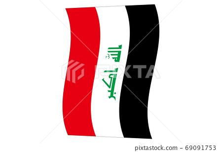 伊拉克新世界標誌2:3Ver垂直波 69091753