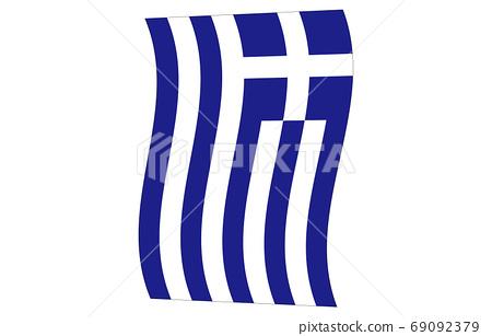 新世界國旗2:3Ver希臘垂直波形 69092379