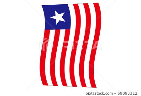 新世界國旗2:3Ver垂直波形利比里亞 69093312