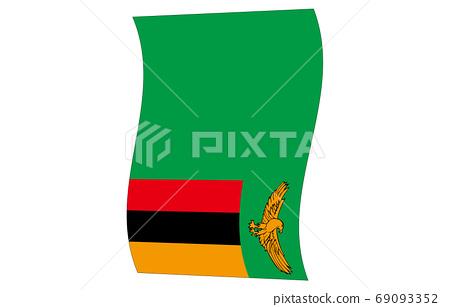 新世界國旗2:3Ver垂直波形贊比亞 69093352