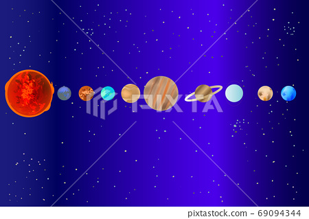 Galactic simple celestial body illustration material 69094344