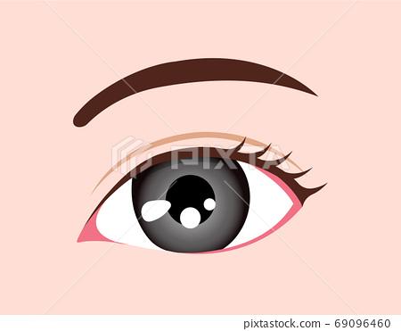 眼虹膜顏色/顏色(種族/顏色接觸)/灰色 69096460