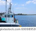 푸른 하늘과 바다 다시 어선의 업 풍경 69098959