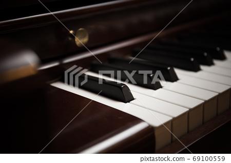Piano keys close-up view 69100559