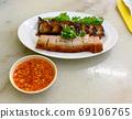 Crispy Roasted Crackling Pork Belly 69106765