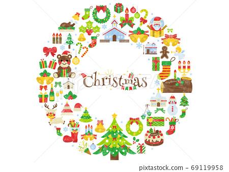 水彩聖誕節插圖 69119958