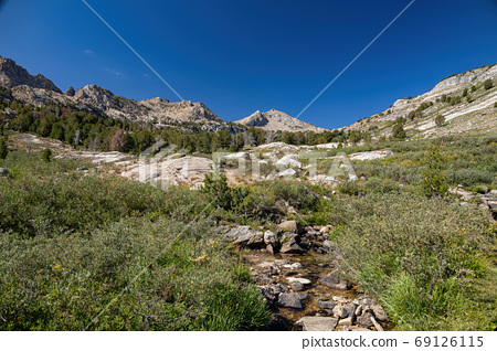 Morning view of the beautiful landscape around the Ruby Crest Tr 69126115