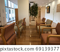 Lobby with ornamental plants 69139377
