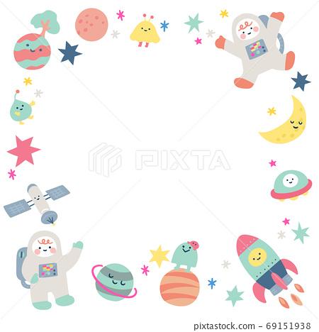 可愛的宇宙框架 69151938