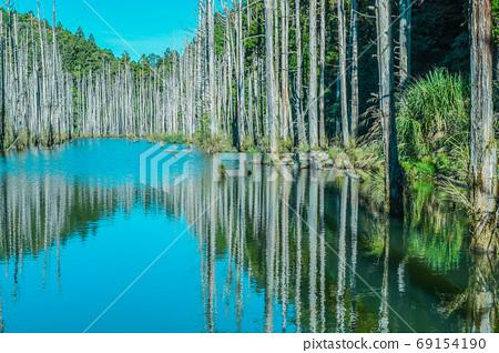 台灣高山湖泊-水漾森林 藍天倒影 69154190