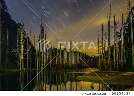 台灣高山湖泊-水漾森林 星空銀河 69154334