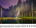 台灣高山湖泊-水漾森林 星空銀河 69154338