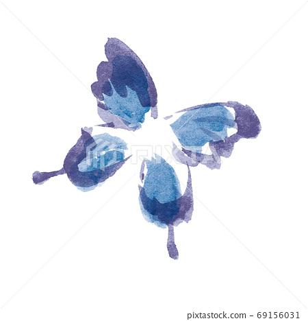 그린 바람의 푸른 나비 일러스트 소재 69156031