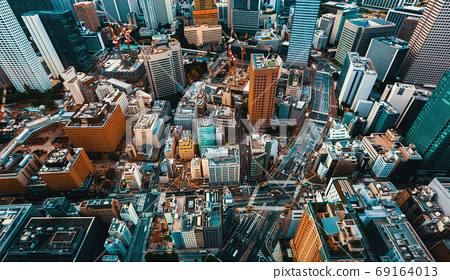 Tokyo cityscape aerial view 69164013