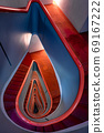 紅色三角螺旋樓梯 69167222