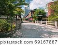 Kyoto, Oshikoji Bridge over the Takase River and the cityscape of Kyoto 69167867