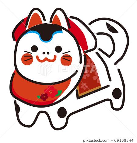 일본 문화 소재 / 행운 사자 69168344