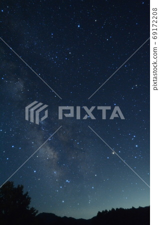 From the sky to the Milky Way, the summer Kaida Kogen starry sky 69172208