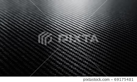 Carbon fiber black pattern background 69175481