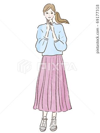 female, lady, woman 69177318