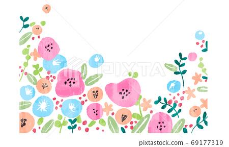 꽃, 플라워, 벡터 69177319