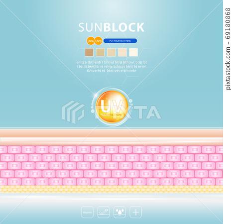 serum and vitamin background concept skin care cosmetics solution vector design. 69180868
