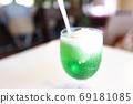 Cream soda carbonated melon carbonated juice juice ice cream 69181085
