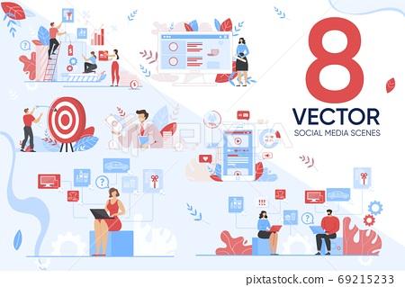 Marketing Targeting in Social Media Scene Set 69215233