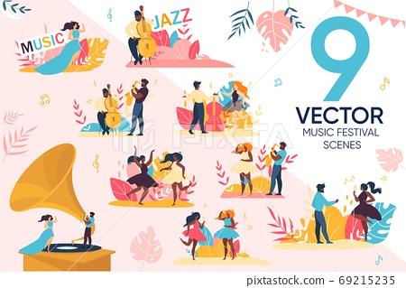 Open Air Jazz Music Festival People Scene Set 69215235