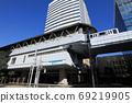 Yurikamome Takeshiba Station (Tokyo Seaside New Transit Seaside Line Station in Minato-ku, Tokyo) 69219905